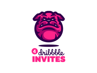 Dribbble Invites sports logo logo mascot ball sport dog bulldog