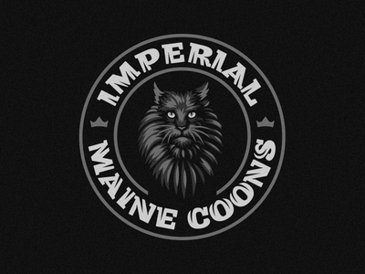 Imperial Maine Coons emblem animal cat maine coon logo