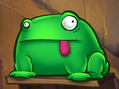 Chickenfrenzy Frog frog green animal comic tongue