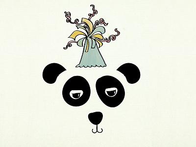 panda celebration happy birthday birthday celebration icon blackwhite animals love panda