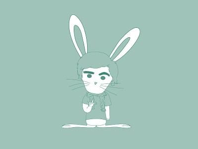 Rabbit P illustration move nou blue animals rabbits rabbit
