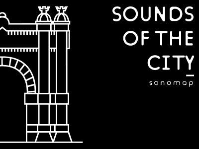 Sonomap - Arc de triomf barcelona sound sonomap noise maps graphic design data visualization city bsc brand bcn arc de triomf