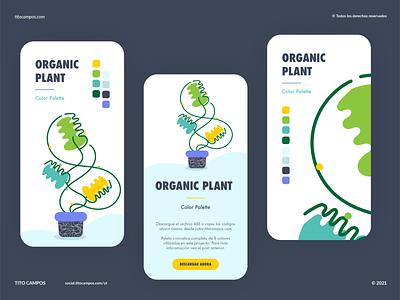 Organic Plant UI Design planting organic art organics composition plant illustration nature plants ux ui design organic plant ui