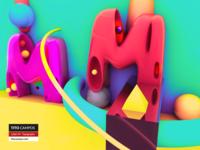 Letter M - Typography Rebound (FullShot)