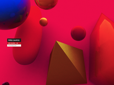 Geometric Shapes 3D circles triangle cinema design 3d shapes geo geometric