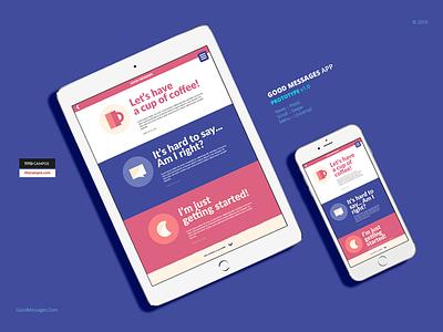 Good Messages App – Prototype v1.0 messages blog ux ui universal iphone ipad design app