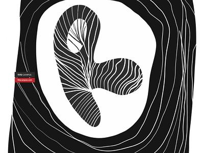 Letter R illustration r letra tipografía typography type