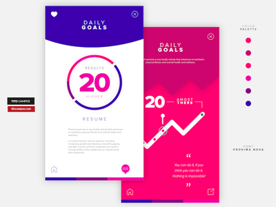 Daily App Progress Concept Inner Screens type icon wip progress data status ux app design design app ios ui