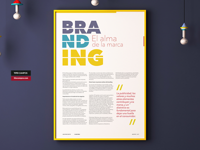 [POSTER] Branding El alma de la marca type typography text post blog brand poster design marca alma branding
