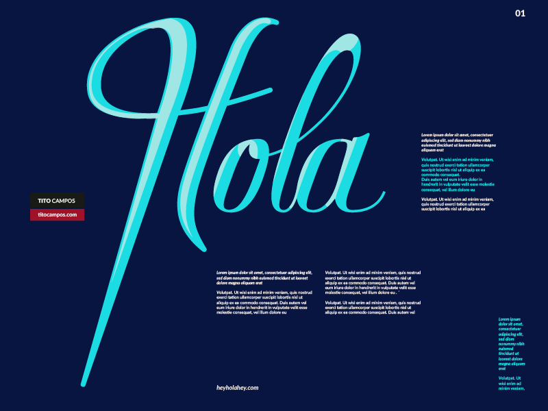 Hola Type Lettering Intro (WIP) type form tipo tipografia caligrafia calligraphy blue typography type lettering hello hola