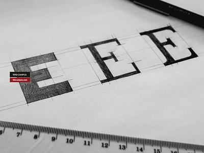 Sketch WIP Letter E Typeform structure estructura letra e letras tipo tipografia boceto wip letterform letter e typographic typography typo type sketch