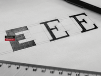 Sketch WIP Letter E Typeform