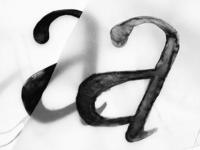 Letra a serif - proceso