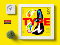 X PRE SIVE Type – Letter A Poster Design
