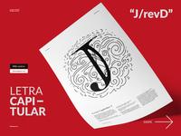 Diseño de letra capitular J revD