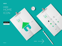 Home Icon - Diseño de Icono - UI variations set cyan poster interface apps home design process icon design iconography iconos icono ui