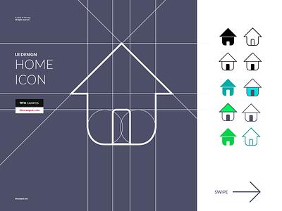 Home Icon - Diseño de Icono - UI Rebound shape interface design iconography icons set icons layout grid ui home icon