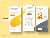 UI Design - Typography App Concept typography design grid composition design ux application interface typographic ui app type typo typeface typography
