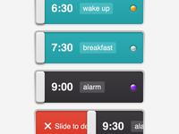 Alarm Clock - list view