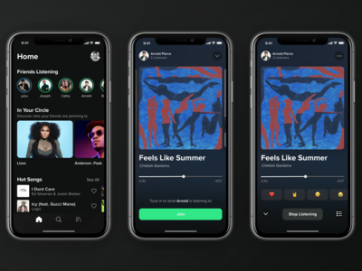 Listen Together -- Collaborative Listening Concept for Spotify