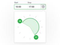 Time selector clock