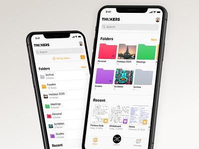 Folder and File Browser button tabbar capture ui navbar thinkers scan design app ui ios browser folder file