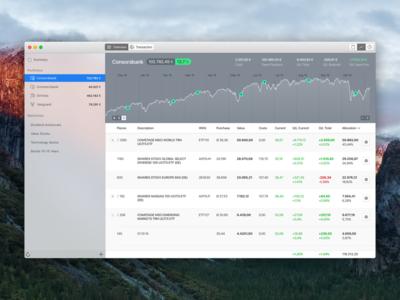 macOS Financial Portfolio App