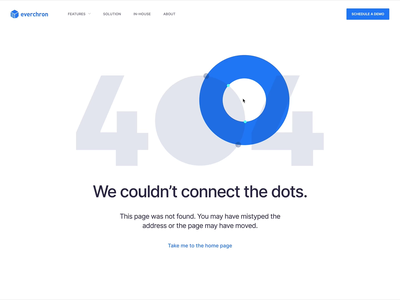 Couldn't connect the dots... header everchron illustration canvas page web not found 404 error dots
