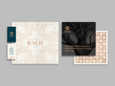 Bach Boutique Hotel Branding by Hoathi typography pattern stationary logo branding boutique bach