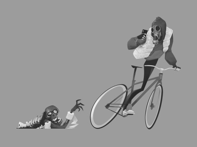 Quarantine Rider comic book cartoon covid19 concept art cycling characterdesign apocalyptic zombie illustraion