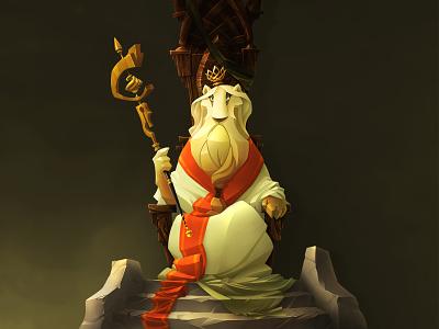 White King game art lionking king lion illustration characterdesign concept art cartoon