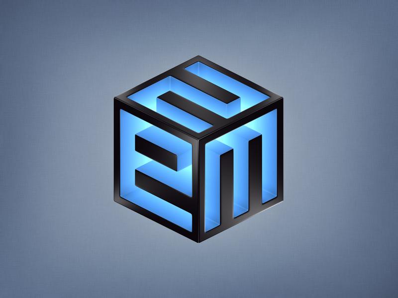 Cube cube 3d logo icon
