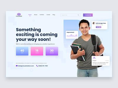 Website Banner Design ux typography web website minimal ui