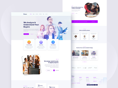 Analyze Landing Page landing page homepage home page ux typography web website minimal ui