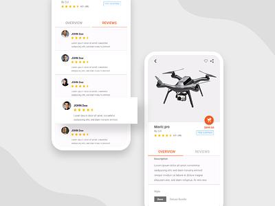 Mavic pro Overview design mobile design mobile app design mobile ui mobile app mobile app ux typography ui minimal