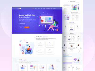 Sell Your Dream Product Landing page design landing page homepage web illustration website ux typography ui minimal