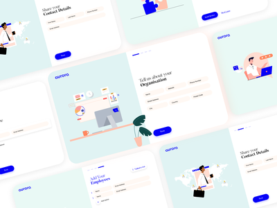 ~ aurora | Onboarding ~ web website aurora illustrator ux illustration ui minimal design branding