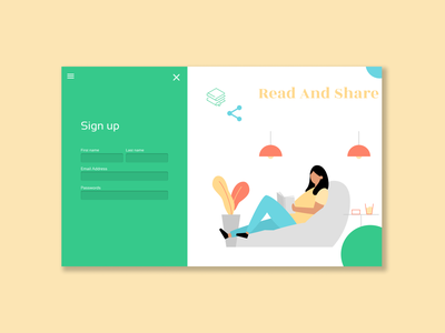 daily ui 001/sign up form illustration website web icon vector design ui ux figma dailyui 001 dailyui