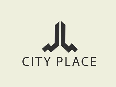 city place custom modern flatminimalist creative vactor minimalist logo logodesign minimal flat