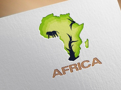 africa custom vactor flatminimalist modern creative minimalist logo logodesign minimal flat