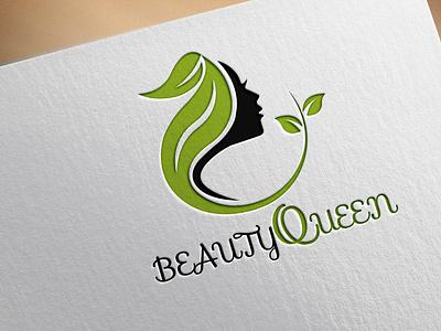 beautyqueen logo minimalist creative design logotype logos custom flatminimalist modern flat