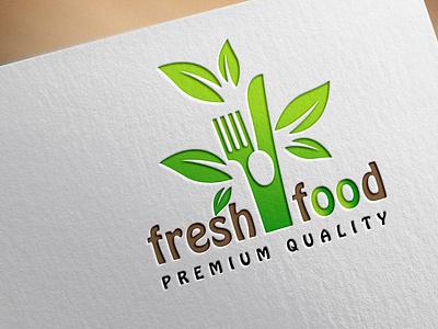 FRESH FOOD logotype vactor custom flatminimalist modern creative minimalist logo logodesign flat minimal