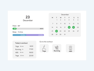 Daily UI Challenge 041 - Workout Tracker workout tracker 041 flat minimal dailyuichallenge dailyui ui