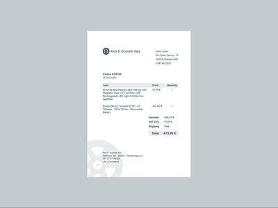 DailyUI Challenge 046 - Invoice invoice design invoice 046 design flat minimal dailyuichallenge ui dailyui