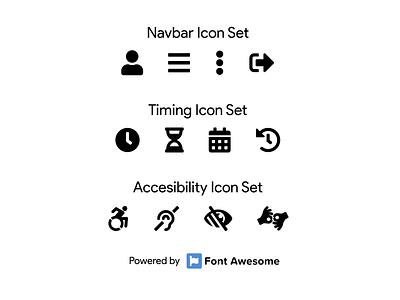 DailyUI Challenge 055 - Icon Set iconset 055 flat minimal dailyuichallenge ui dailyui