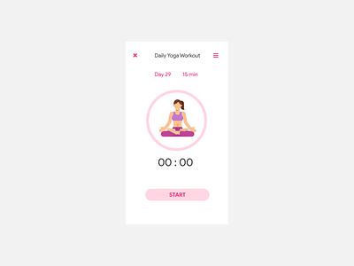 Daily UI Challenge 062 - Workout of the day workout yoga o62 workoutoftheday design colorful flat minimal ui dailyuichallenge dailyui