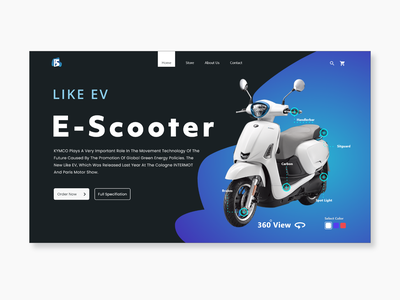 E-Scooter - Landing Page landingpage landing page design landing design landing page landing ui  ux clean ui cleaning clean design design clean uidesign ui scooters scooter