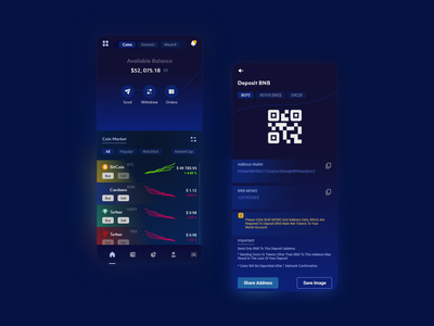 Crypto Wallet - Currency App ui  ux clean design clean design simple clean interface simplicity wallet ui walletapp mobileappdesign mobile ui mobileapp uidesigns uidesign wallet crypto wallet mobiledesign