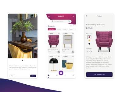 Furniture Shop - Mobile Application furniture store mobile app simplicity ui  ux clean design eccomerce ecommerce shop ecommerce furniture design mobile ui mobile app design mobile design mobile furniture app