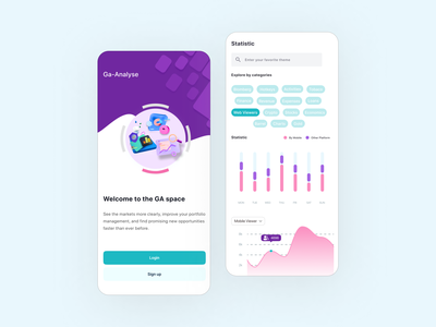 Analysis App uidesign minimalistic clean design mobile ui design clean account stats chart graph analytics chart statistic schedule app application mobile app mobile analytics dashboard dashboard